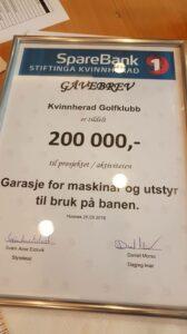 Gåve på 200 000 kr